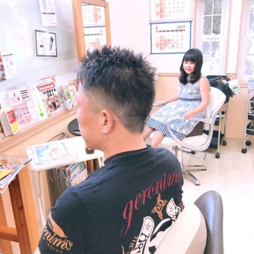 お父さんのヘアドネーション