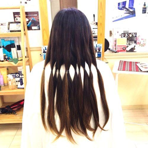 ヘアドネーションで髪の寄付ができます